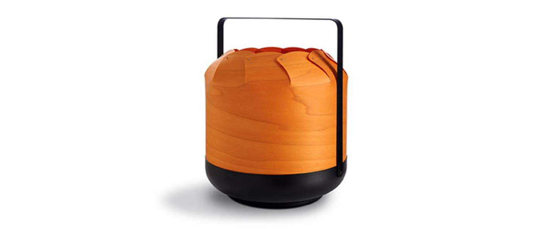 Lampe a poser chou mpb orange led h27cm o21 5cm lzf normal