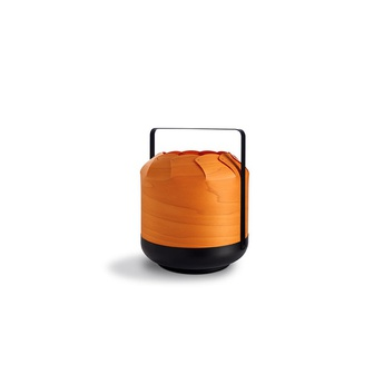 Lampe a poser chou mpb orange led h27cm o21 5cm lzf normal