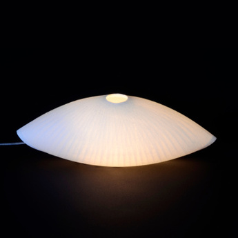 Lampe a poser chrysalide blanc h10cm celine wright normal