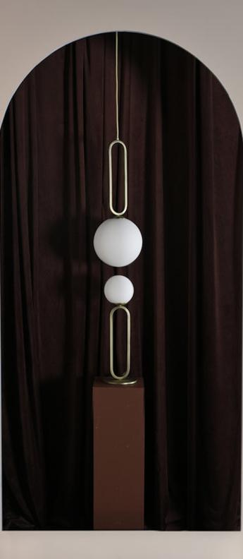 Lampe a poser cime laiton o12cm h42cm eno studio normal