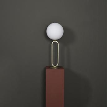 Lampe a poser cime laiton o20cm h50cm eno studio normal