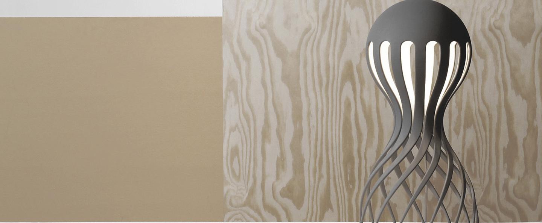 Lampe a poser cirrata gris led o22cm h44cm oblure normal