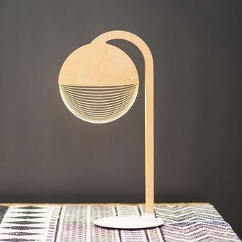 Lampe a poser city marron l22cm h42cm studio cheha normal