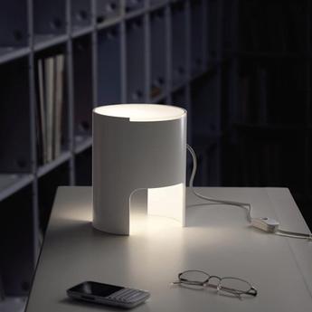 Lampe a poser civetta blanc h20cm martinelli luce normal