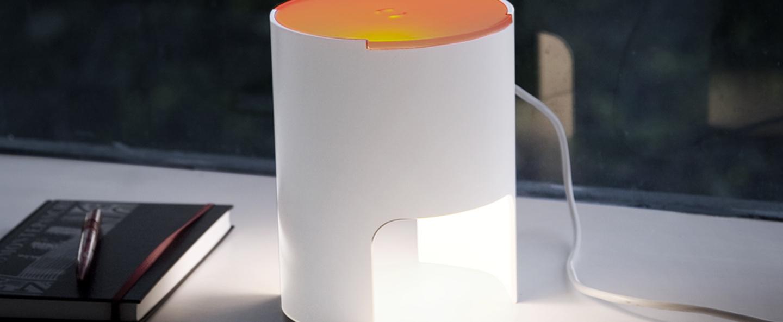 Lampe a poser civetta orange h20cm martinelli luce normal