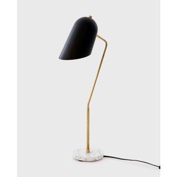 Lampe a poser cliff table noir et laiton l15cm h71cm lambert fils normal
