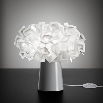 Lampe a poser clizia blanc o27cm h25cm slamp normal