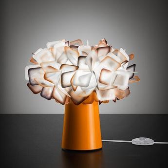 Lampe a poser clizia orange o27cm h25cm slamp normal
