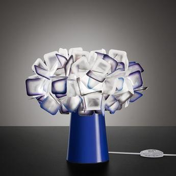 Lampe a poser clizia violet o27cm h25cm slamp normal
