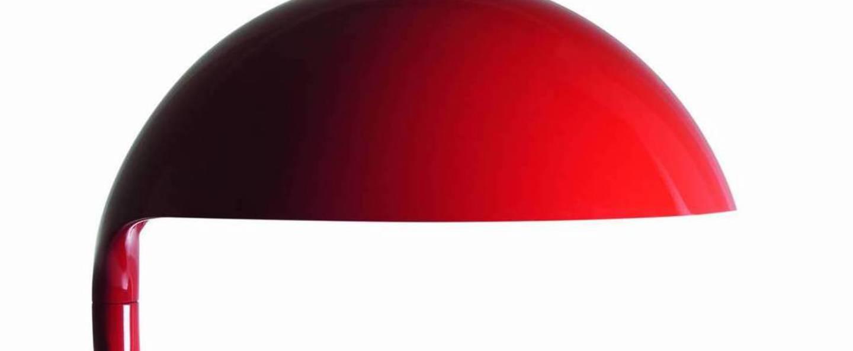Lampe a poser cobra rouge led o40cm h40cm martinelli luce normal