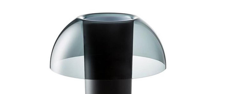 Lampe a poser colette 50 gris fume o42cm h49 5cm pedrali normal