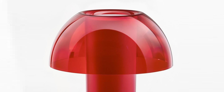 Lampe a poser colette 50 rouge o42cm h49 5cm pedrali normal