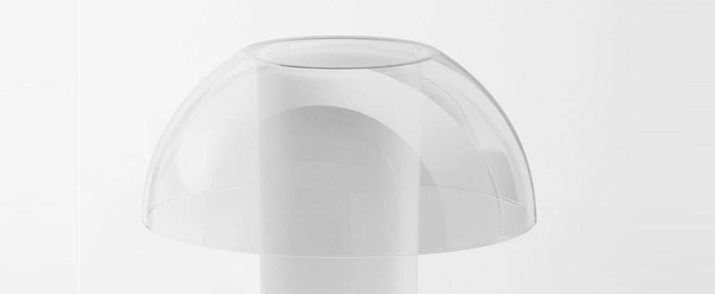 Lampe a poser colette 50 transparent o42cm h49 5cm pedrali normal