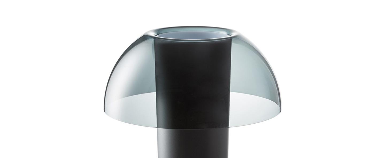 Lampe a poser colette gris fume o25cm h29 5cm pedrali normal