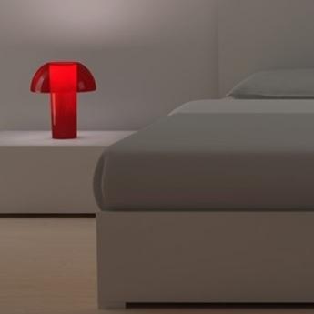 Lampe a poser colette rouge o25cm h29 5cm pedrali normal
