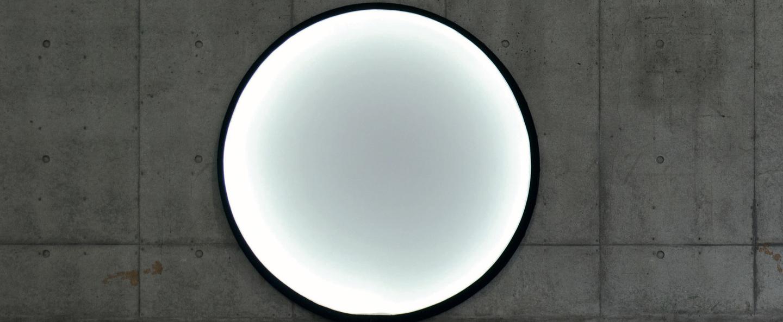 Lampe a poser collapsible moon noir et blanc led o120cm hcm palluco normal
