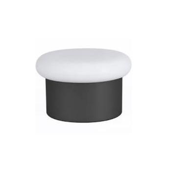 Lampe a poser collona verre opal blanc noir o25cm h15cm eno studio normal
