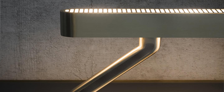 Lampe a poser colt laiton l43cm h27 9cm bert frank normal