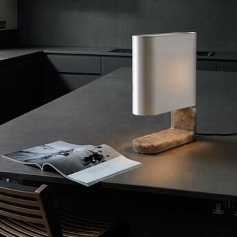 Lampe a poser columbo albatre l11cm h43 5cm cto lighting normal