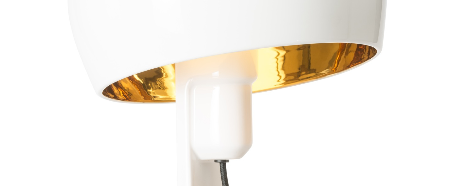 Lampe a poser coppola blanc or h32cm formagenda normal