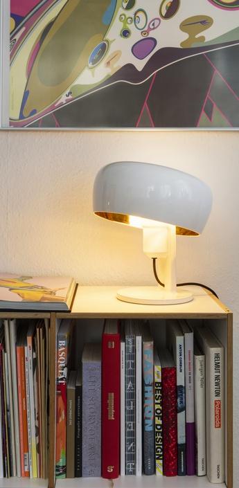 Lampe a poser coppola blanc or h32cm formagenda normal
