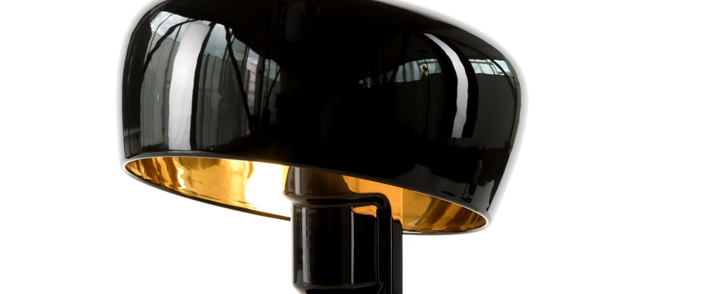 Lampe a poser coppola noir or h32cm formagenda normal