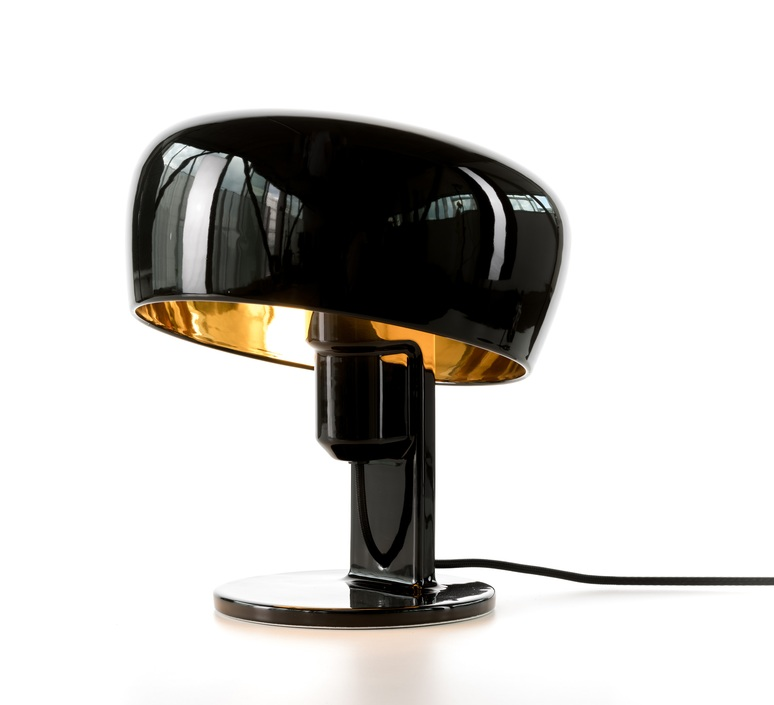 lampe poser coppola noir or h32cm formagenda luminaires nedgis. Black Bedroom Furniture Sets. Home Design Ideas