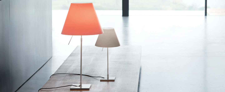 Lampe a poser costanza d13c aluminium led o40cm h110cm luceplan normal