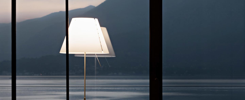Lampe a poser costanza d13t c aluminium led o40cm h160cm luceplan normal