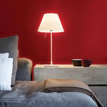 Lampe a poser costanzina blanc o26cm h51cm luceplan normal