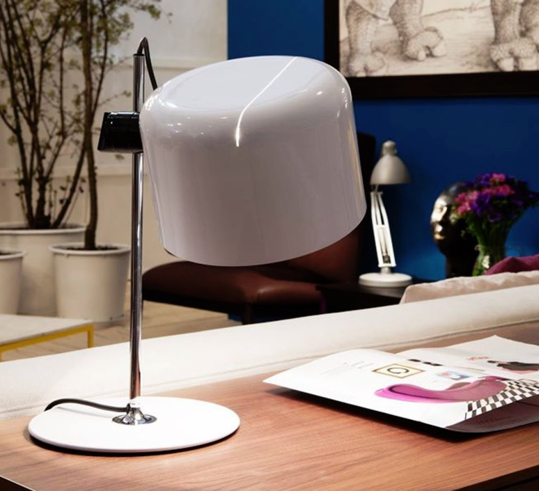 Coupe joe colombo oluce 2202 blanc luminaire lighting design signed 22463 product