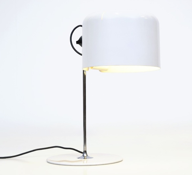 Coupe joe colombo oluce 2202 blanc luminaire lighting design signed 22465 product