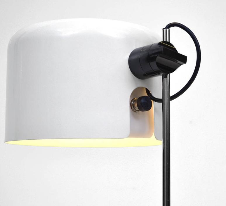 Coupe joe colombo oluce 2202 blanc luminaire lighting design signed 22469 product