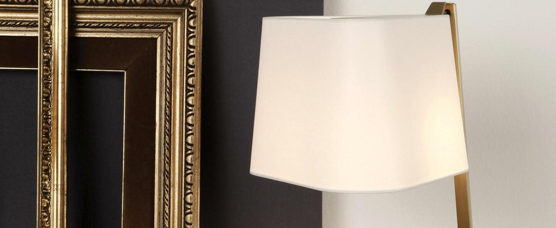 Lampe a poser couture new blanc bronze l30 5cm h50cm contardi normal