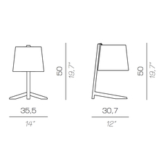 Couture new daniele lo scalzo moscheri lampe a poser table lamp  contardi acam 002755  design signed nedgis 87177 thumb