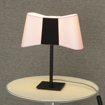 Lampe a poser couture rose noir h39cm designheure normal