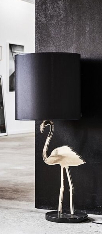 Lampe a poser crazy flamingo noir o40cm h100cm design by us normal