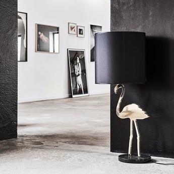 Lampe a poser crazy flamingo noir o40cm h100cm design by us normal