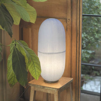 Lampe a poser cristal h blanc h47cm celine wright normal