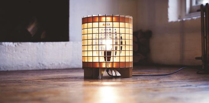 Lampe a poser cryptex bois naturel o29cm massow design normal