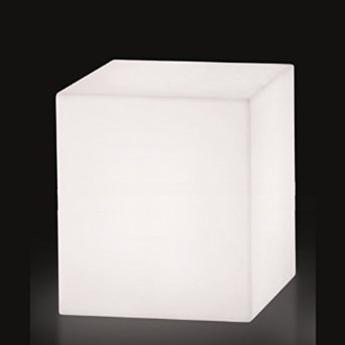 Lampe a poser cubo blanc o73cm slide normal