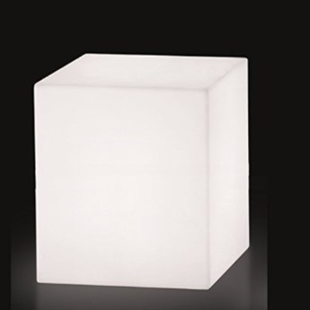 lampe poser cubo ext rieur blanc h60cm slide luminaires nedgis. Black Bedroom Furniture Sets. Home Design Ideas