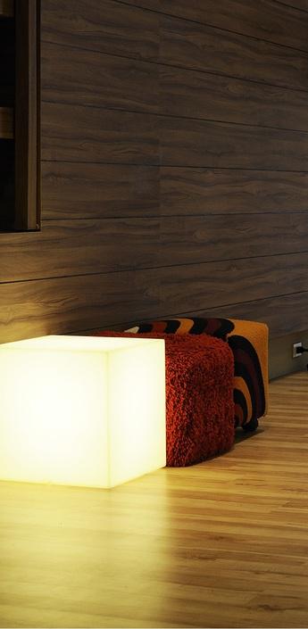 Lampe a poser cubo interieur blanc l43cm slide normal