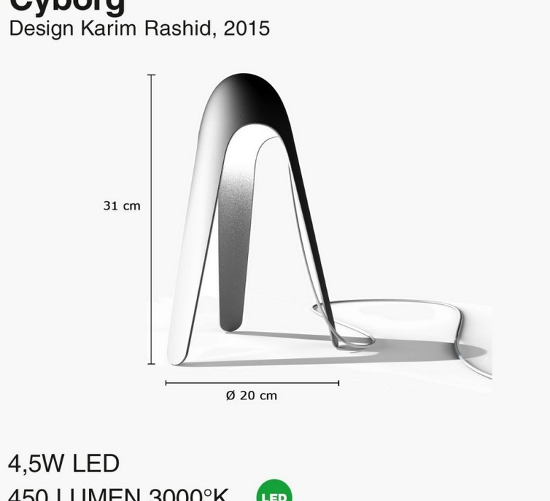 Cyborg karim rashid martinelli luce 825 gr luminaire lighting design signed 23736 product