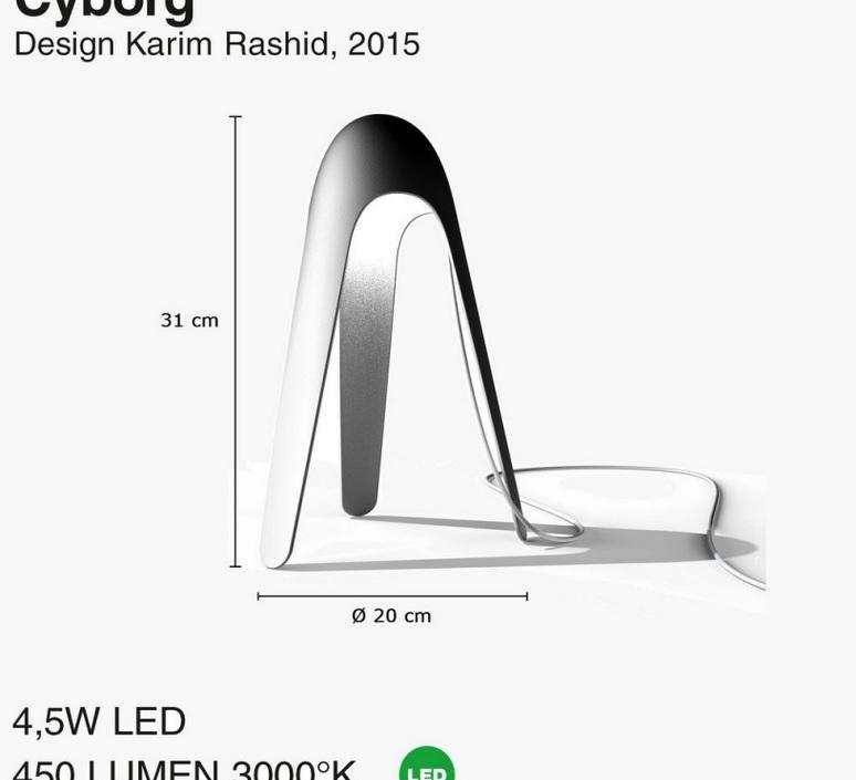 Cyborg karim rashid martinelli luce 825 ve luminaire lighting design signed 23727 product