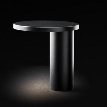 Lampe a poser cylinda 218 noir noir led o29cm h30cm oluce normal