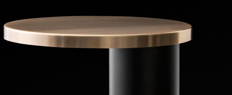 Lampe a poser cylinda 218 or noir et or led o29cm h30cm oluce normal