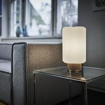 Lampe a poser cylinder medium blanc l20cm h37cm le klint normal