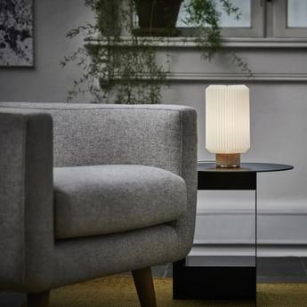 Lampe a poser cylinder small blanc l14cm h25cm le klint normal