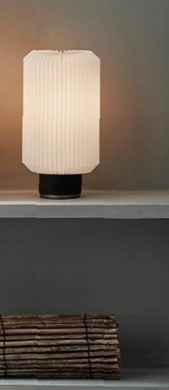 Lampe a poser cylinder small noir l14cm h25cm le klint normal